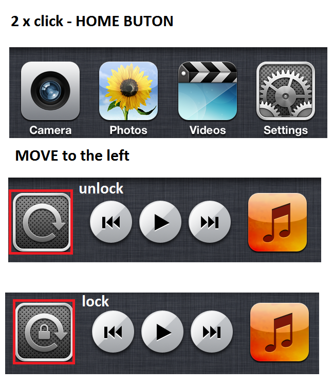 how to unlock - lock rotate screen on iphon and ipad