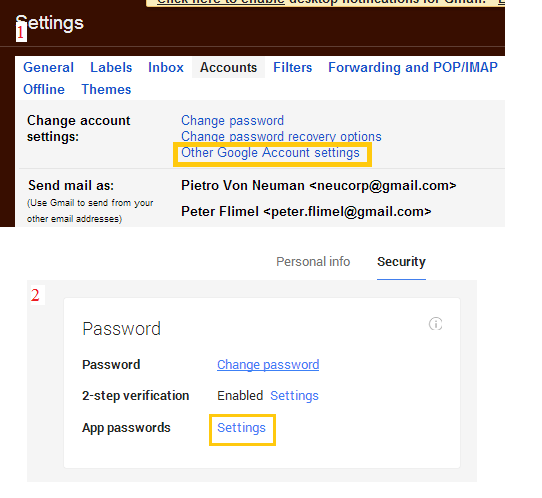 How do I setup a Gmail account with 2-step verification
